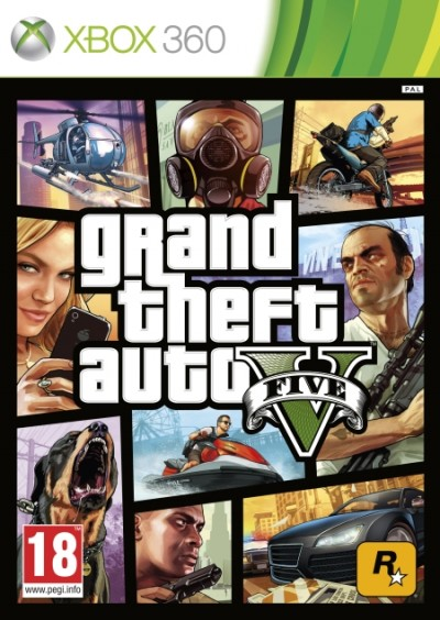 Grand Theft Auto V (Xbox 360) - okladka