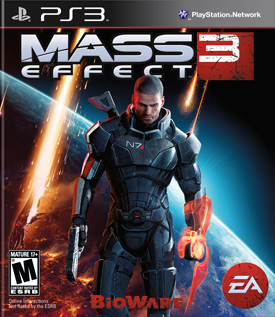 Mass Effect 3 (PS3) - okladka