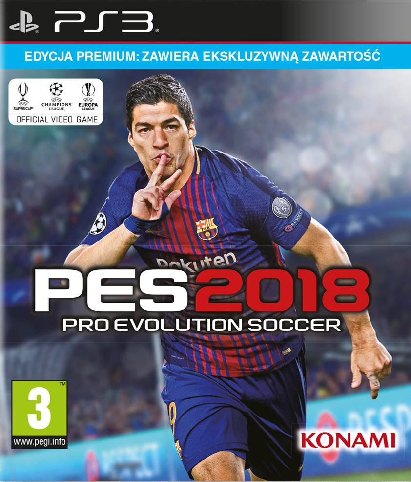 Pro Evolution Soccer 2018 (PS3) - okladka