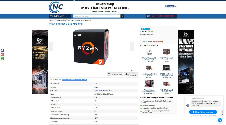 AMD Ryzen 9 3800X, Ryzen 7 3700X i Ryzen 5 3600X - specyfikacja